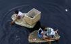 Styrofoam boat paddling