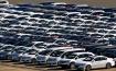 Cars awaiting export