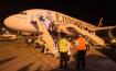 Super jumbo lands in Bahrain