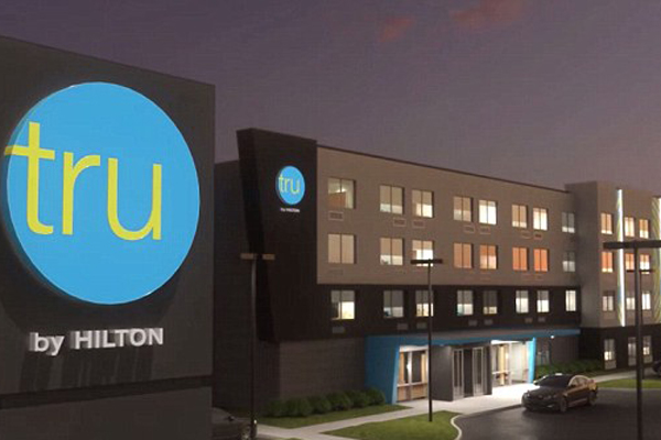 Αποτέλεσμα εικόνας για Hilton Group launches Tru, a 5,000th hotel property in America!